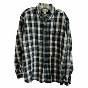 L.L. Bean Flannel Shirt Men's XL Vintage Plaid